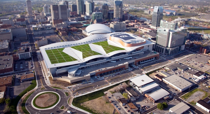Greenrise Technologies Complete Music City Center Green Roof